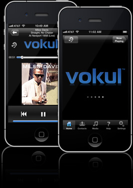 screenshots of vokul playing music